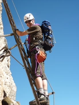 Leading on Via Ferrata - Dolomites