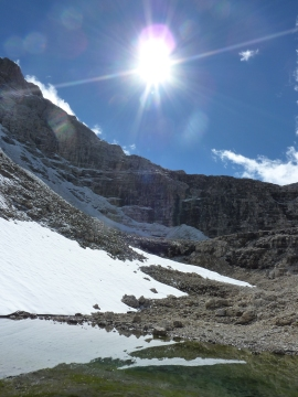 Pizes De La Valun, above Boe lift, Dolomites