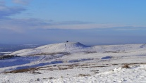 Lovely winter conditions on my local fell, Rivington Pike, West Pennine Moors, Lancashire, UK