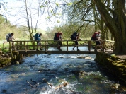 Almost Home on D of E expedition, crossing River Dove at Beresford Dale