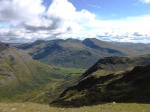Mosedale with Wasdale Head, Scafell Massif behind