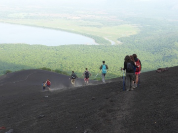 Descending Momotobo, Nicaragua