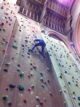 Indoor climbing, Manchester.