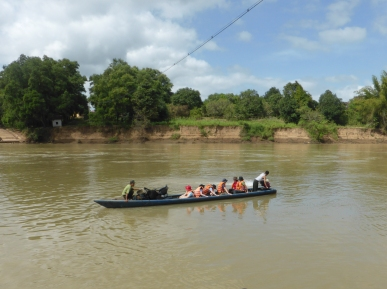 Crossing the Dak Krang river