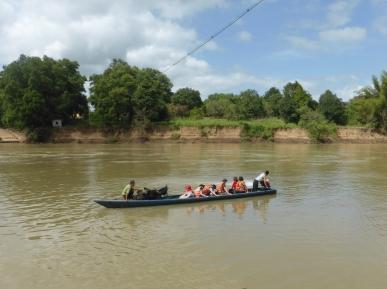 Crossing the Dak Krang river