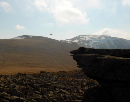 Sea King returning over Foel Grach