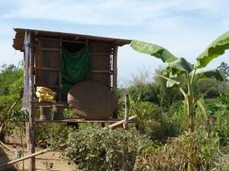 Love Hut outside Tra village