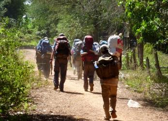 Approaching Tra village