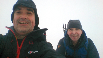 Smiley Selfie of Mike and I on the summit. Apparently a good place to propose marriage as well.
