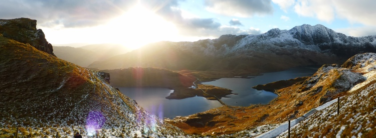 Dawn over Llyn Llydaw