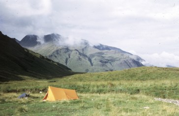 Wild Camp at the top of Water of Nevis