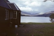 Loch Ossian from the entrance to the Youth Hostel