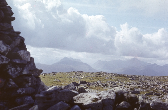 "View from Leu Uilleim, ""Horseshoe Mountain"" above Ossian Hostel."