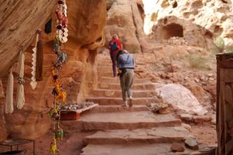 Old steps up to the Obelisks