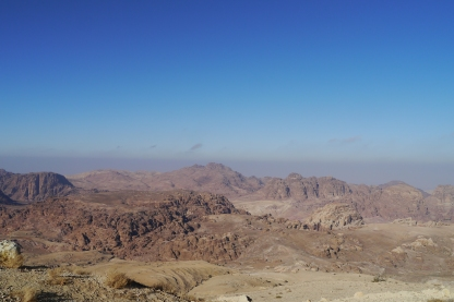 View across Wadi Musa to Petra from our hotel room.