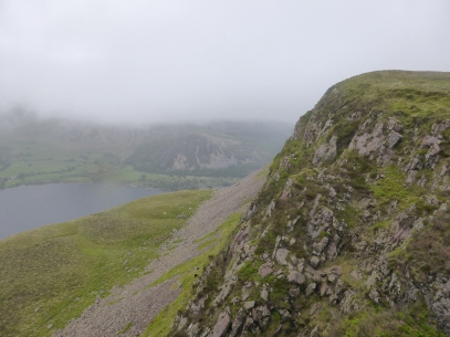 Ennerdale Water from the summit of Crag Fell.