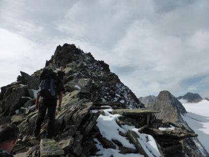 Rinnenspitz summit ridge.