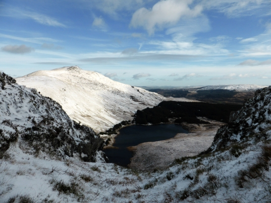 Moel Siabod above Llynnau Diwaunydd