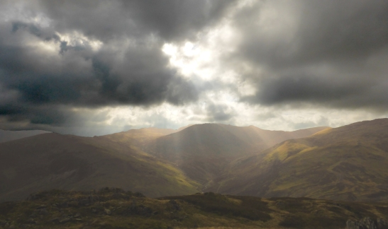 Looking up Glenridding to Catstycam and Helvellyn from Nick Head.